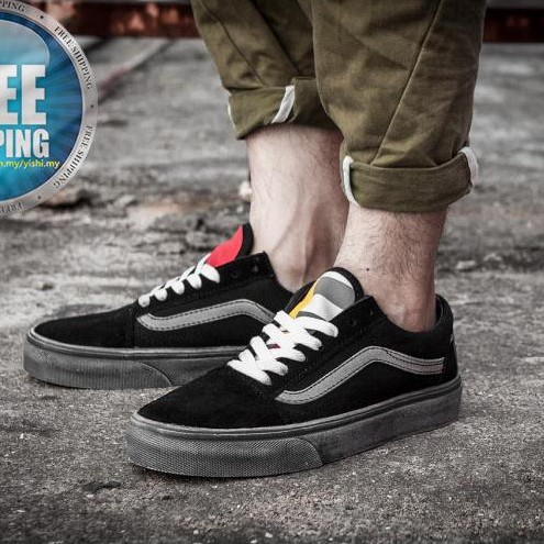 4922ed8cc9 VANS SK8-HI REISSUE nubuck black strip high top red canvas shoes 35 ...