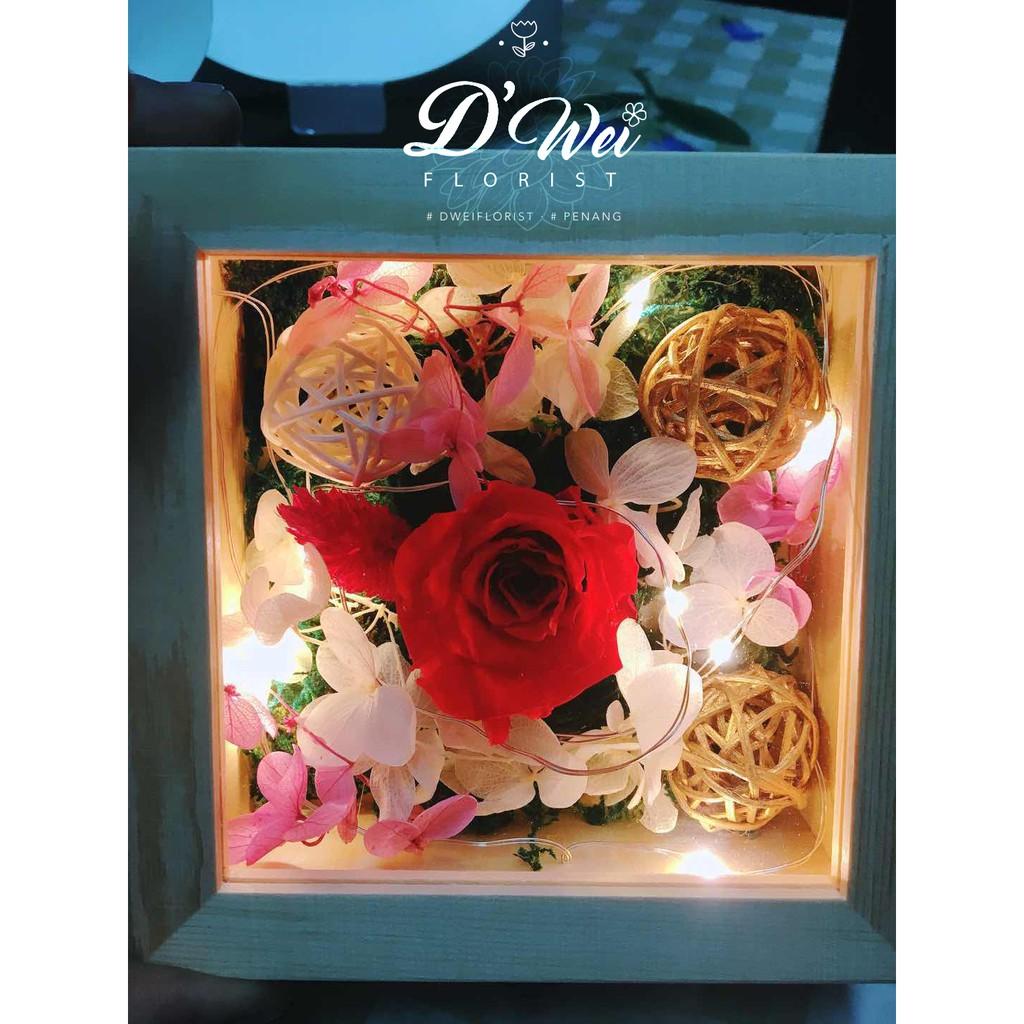 Ready Stock Creative Gift Hexagon Explosion Box Rose Flower Diagram Rosebox Assemble Led Shopee Malaysia