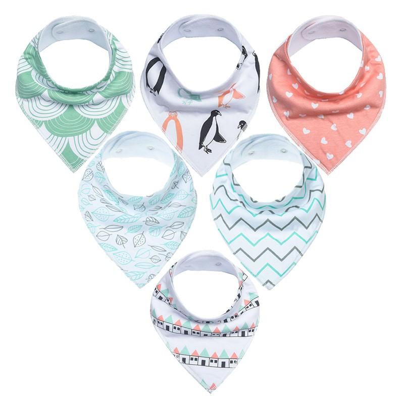 1PC Baby Bandana Bibs for Drooling /& Teething Organic Cotton Triangle Absorbent
