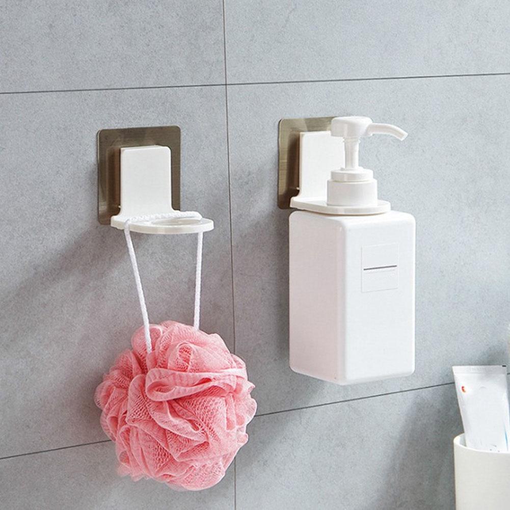 954ceebb5ee37 2 Pcs Plastic Shampoo Hanging Rack Hook Soap Wall Mount Bottle Organizer  White