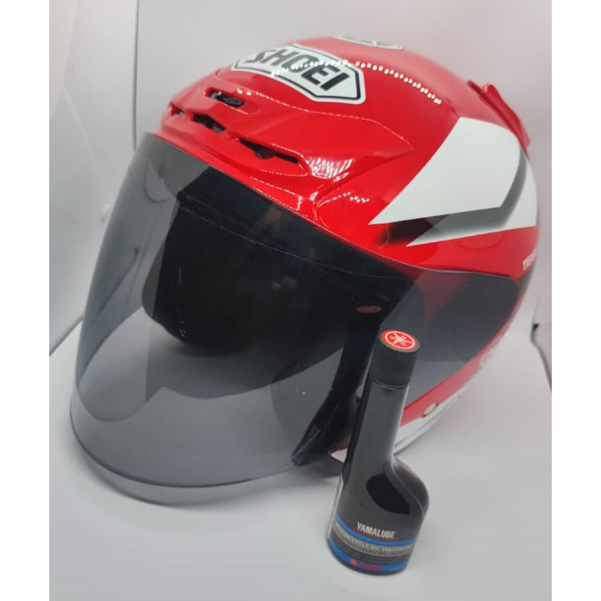 [READY STOCK]MOTOR HELMET SHOEI YAMAHA FACTORY 50TH ANNIVESARY RED COLOUR(FREE OIL TREATMENT)