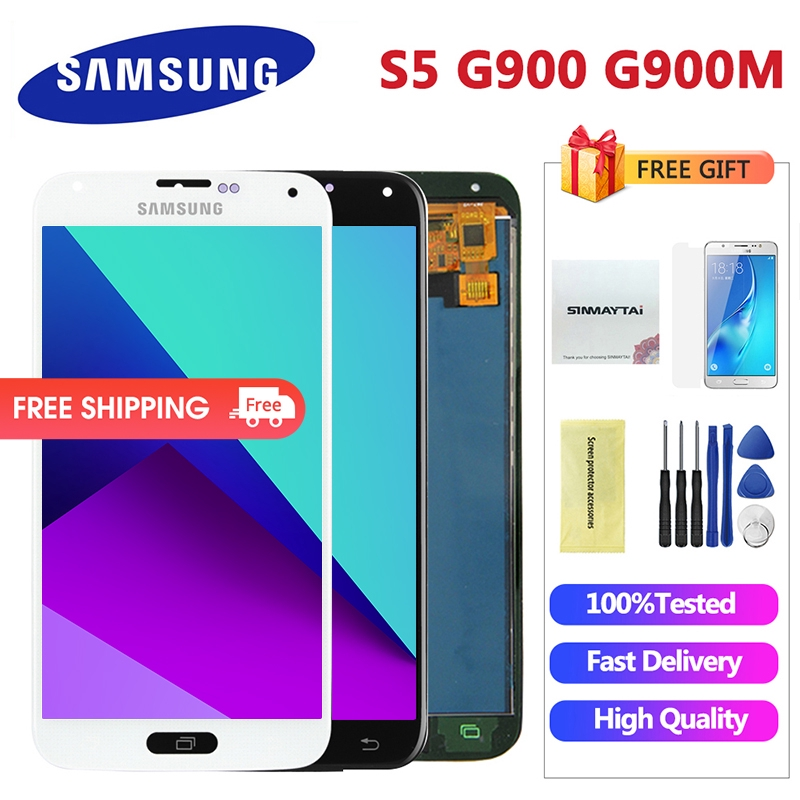 Samsung Galaxy S5 G900 G900M G900A LCD Display Screen Touch Digitizer