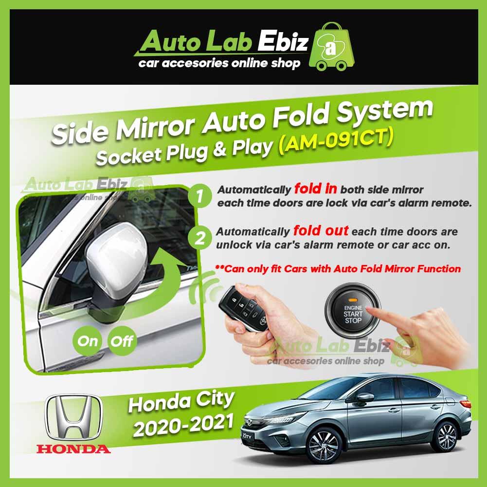 Honda City 2020-2021 Amark Side Mirror Auto Fold System AM-091CT (Socket Plug and Play)