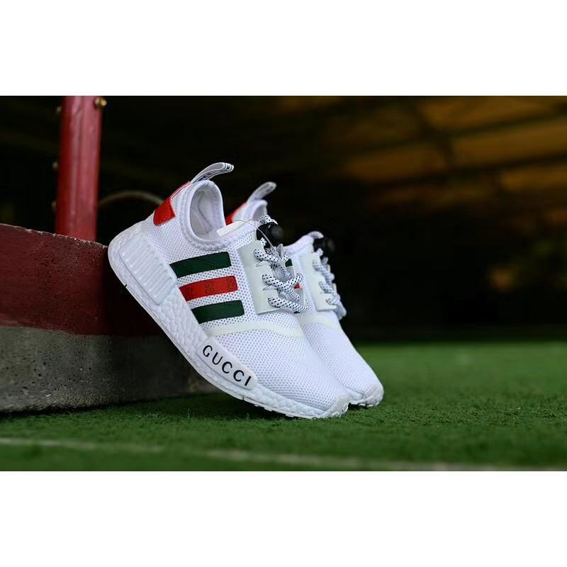 detailed look 7658b 786f5 【HOT ITEM】100%Original Gucci x Adidas NMD-R1 sneakers BLACK for men or women