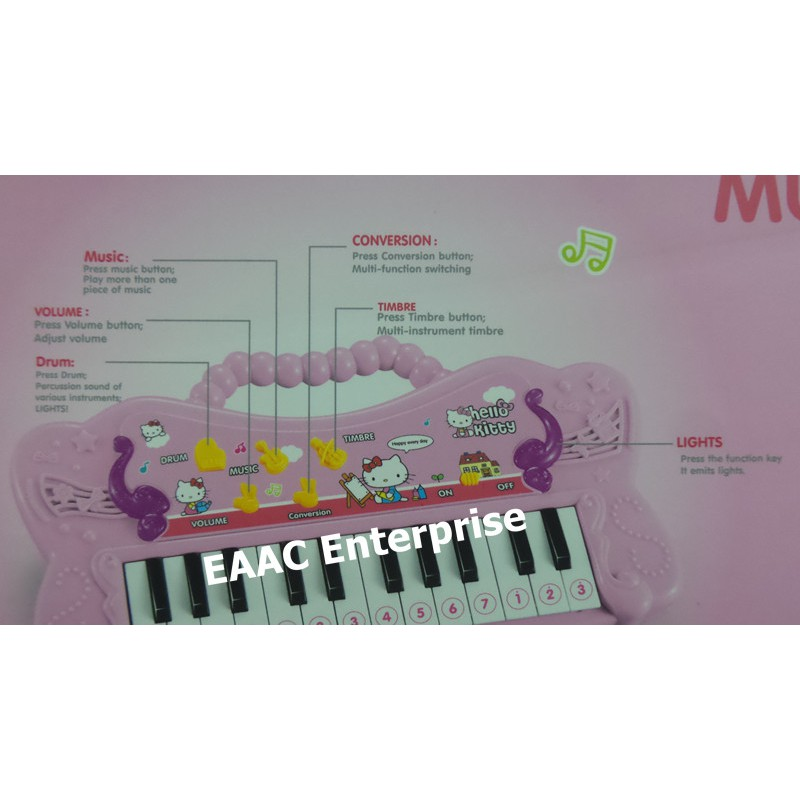 Hello Kitty Electronic Music Piano / Organ - Educational Toy for Kids