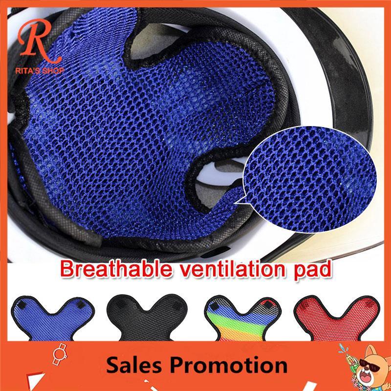 Motorcycle Helmet Insert Cool Pad 3D Air Mesh Heat Insulation Cushion Pad LE
