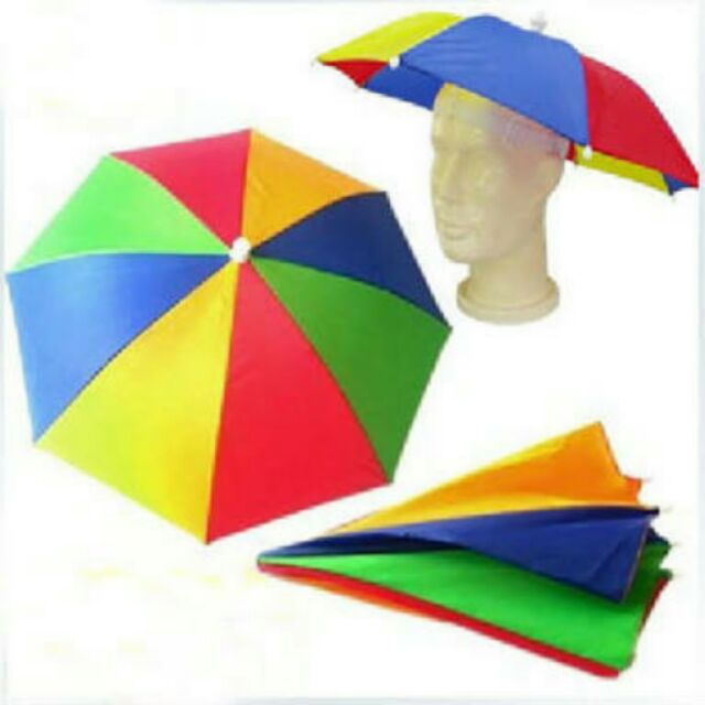 หมวกร่มกันแดดกันฝน (ซื้อ 1 แถ