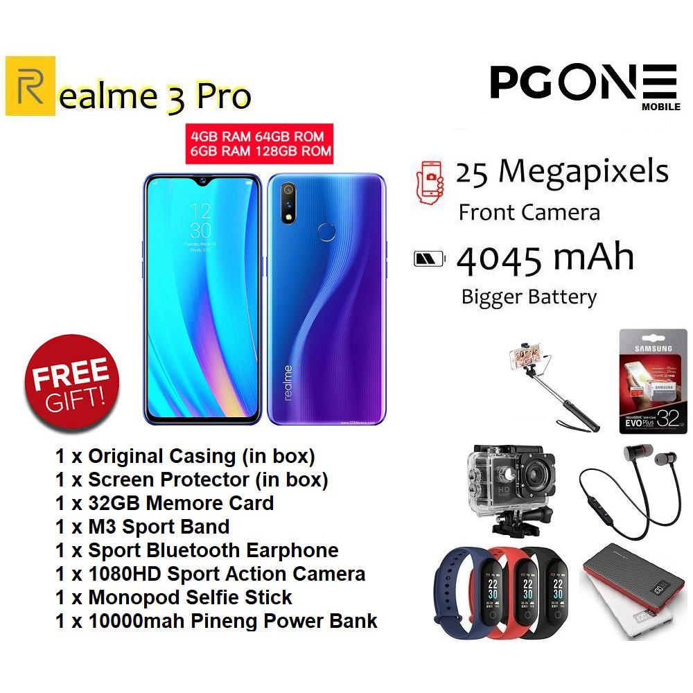 Realme 3 Pro [4GB RAM+64GB ROM /6GB RAM+128GB ROM] Original Malaysia Set -  FREEBIES!!!
