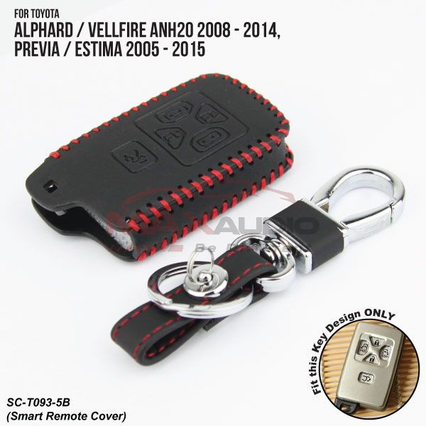 [FREE Gift] TOYOTA ESTIMA, ALPHARD, VELLFIRE Quality Leather / Silicone Smart Key Remote Cover