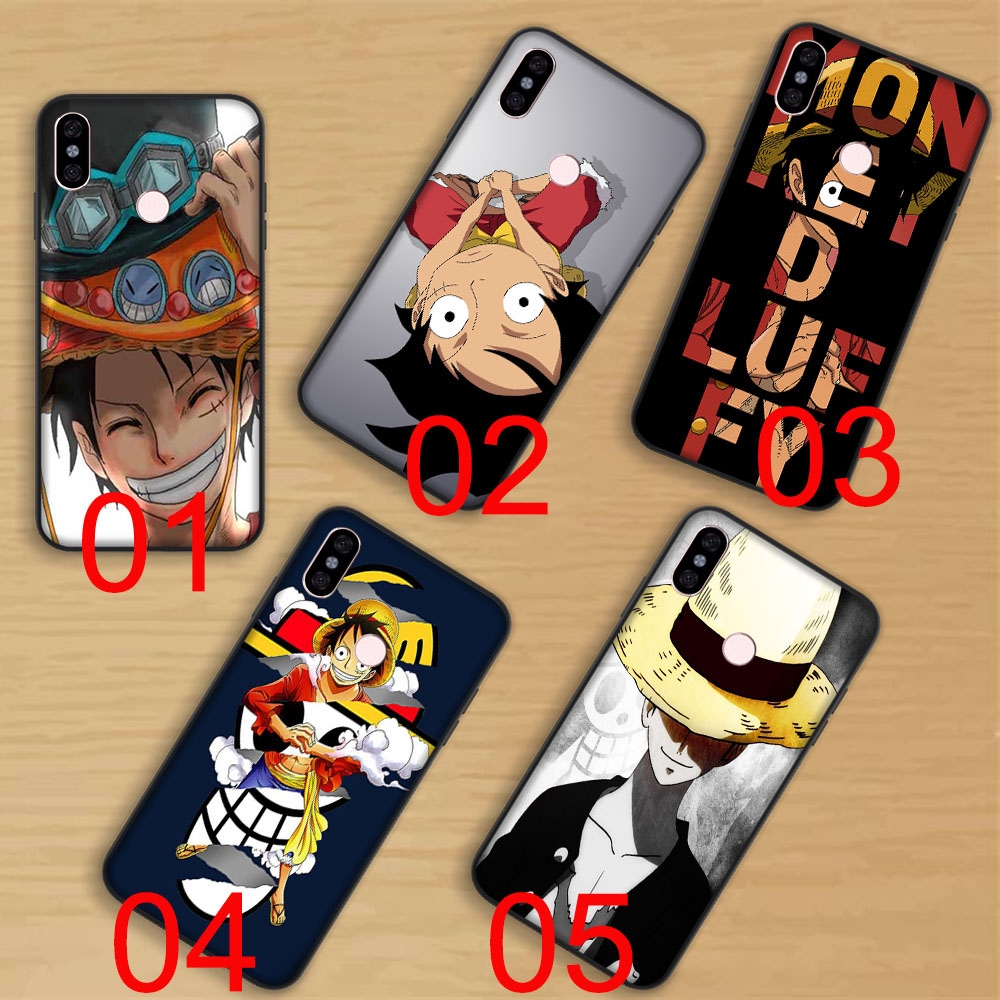 Black Soft Case Xiaomi Redmi Note 5 Pro 5A Prime Plus 4 4x 16G 32G 64G One  Piece Luffy