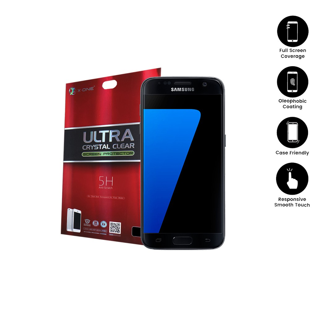 Samsung S7 ( G930 ) X-One Ultra Crystal Clear Screen Protector ( 2-In-1 )