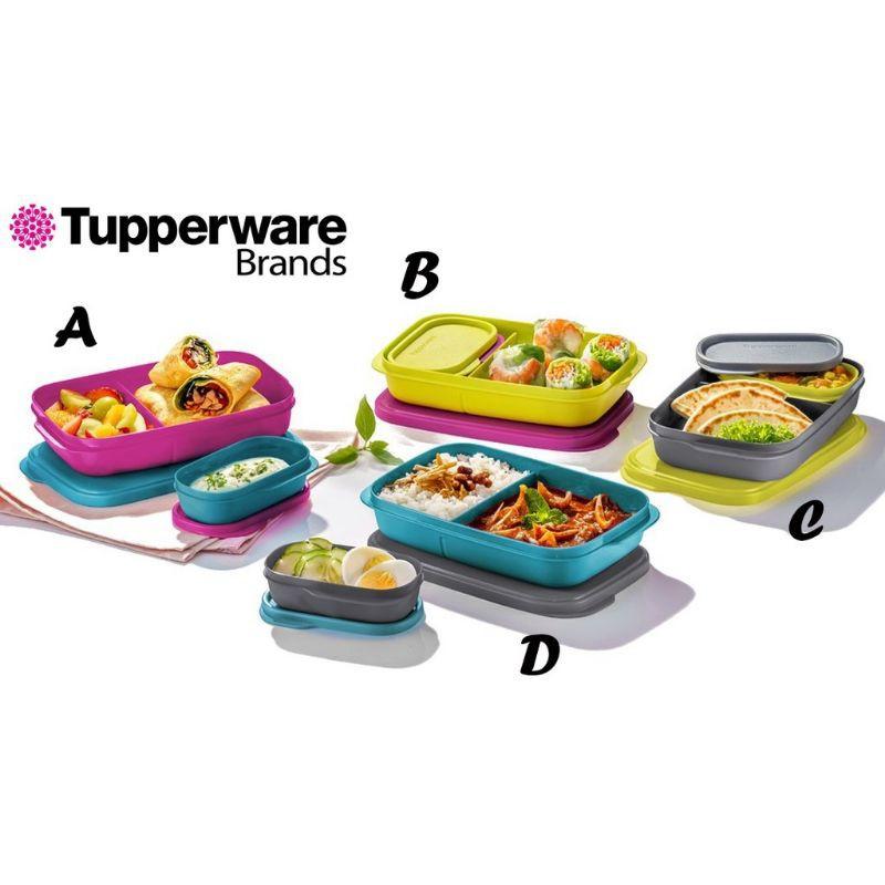 (READY STOCK) NEW ORIGINAL TUPPERWARE Foodie Buddy Lunch Box Liquid & Air Tight / Foodiebuddy