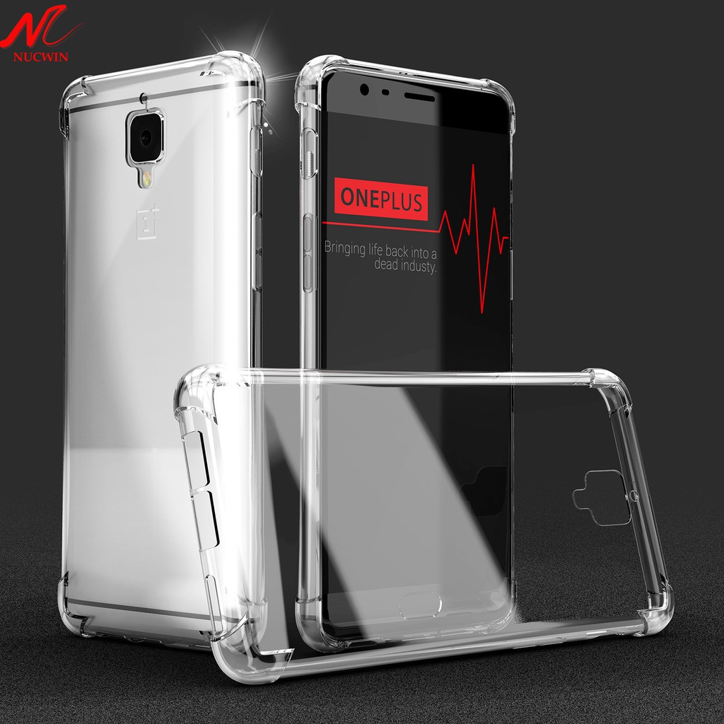 OnePlus 3 Case One Plus Three OnePlus 3T Transparent Silicone TPU Clear  Cover