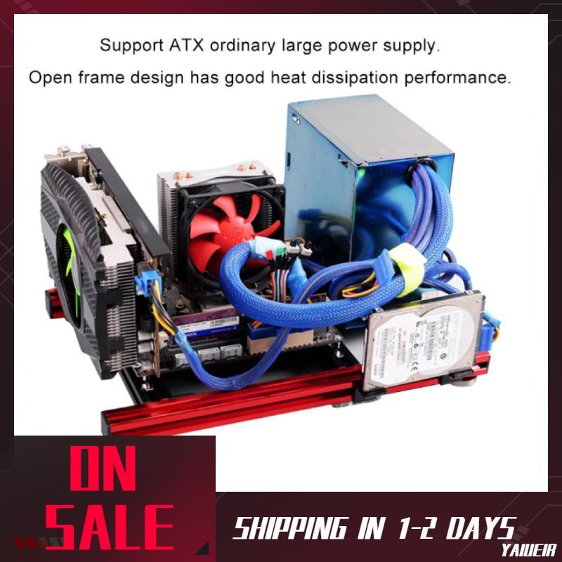 DIY Mini Open Aluminum Alloy Frame ITX Motherboard PC Computer Case