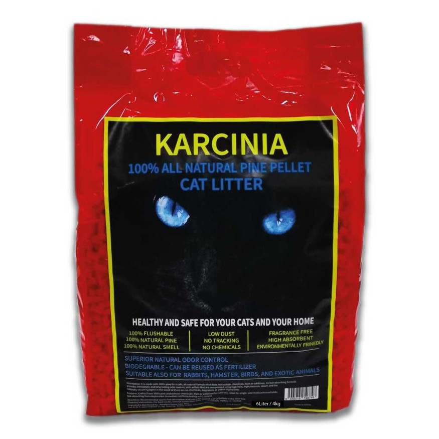 (NEW ARRIVAL) 4kg KARCINIA Eco Natural Pine Wood Cat Litter | Pasir Kucing Kayu Pine 4kg