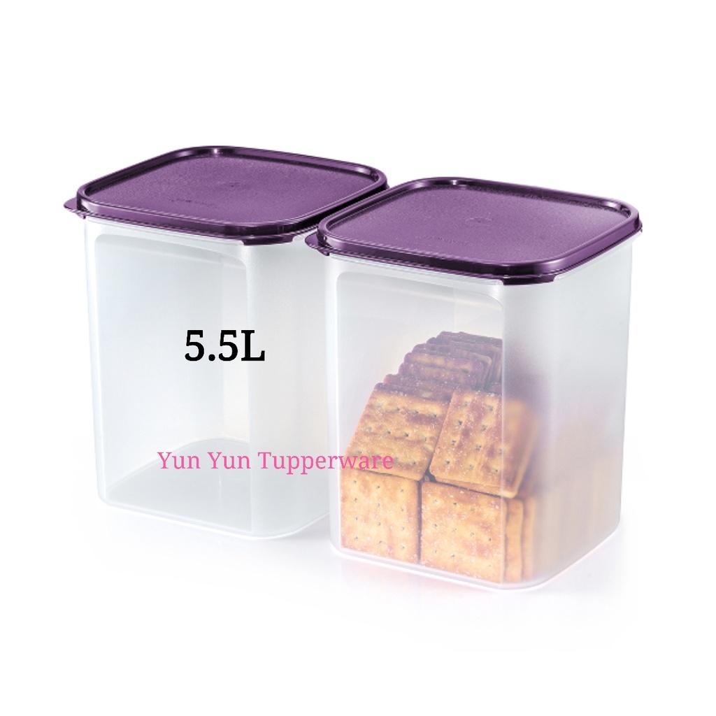 Tupperware Modular Mates Square - 5.5L (2 PCS) - Purple + White