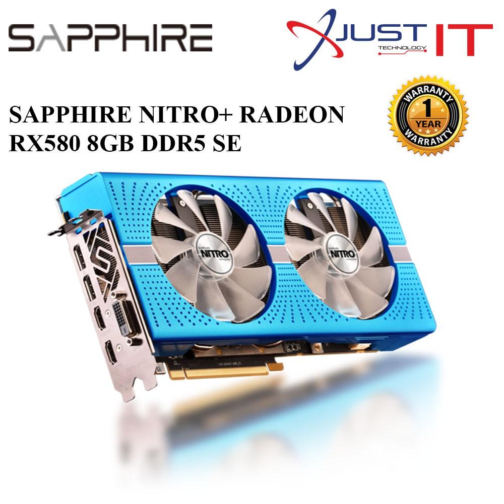 SAPPHIRE NITRO+ RADEON RX 580 8G GDDR5 / RX 580 8G GDDR5 SE GRAPHIC CARD