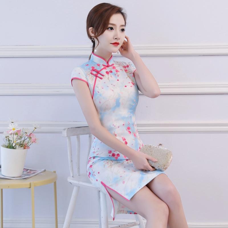 facf82b71 ProductImage. ProductImage. Cheongsam new summer short lace sexy retro  improved ...