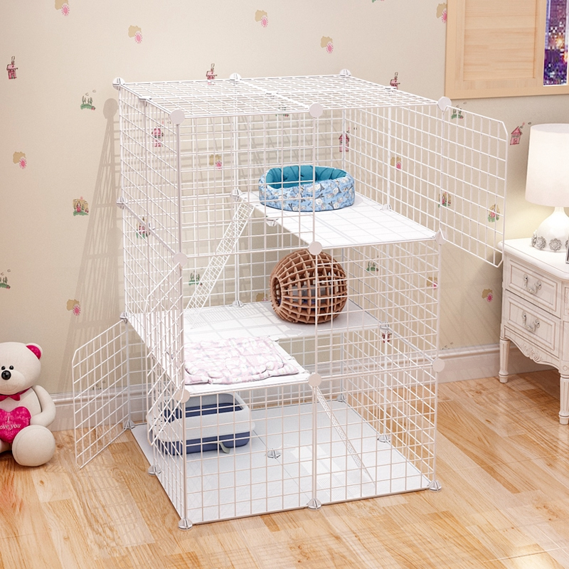 Cat Cage Cat Villa Indoor Cat House Home Extra Large Free Space With Toilet Small Clearance Cat House Cat Litter Shopee Malaysia