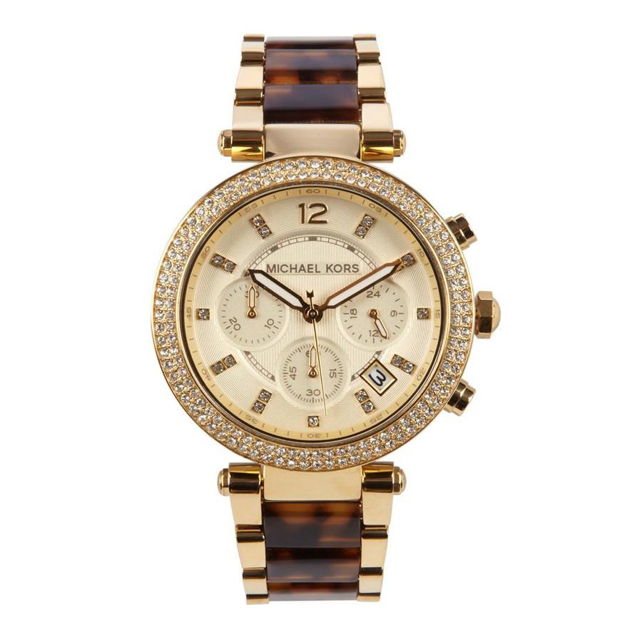90c858190075 MK Original Michael Kors Ladies Parker Chronograph Analog Watch MK6119