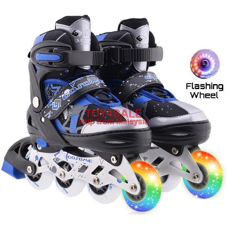 Kids Adult🌟InStock Rollerblade Inline Skate + LED Wheel Roller Blade Kasut  Roda  1b7f0299f4