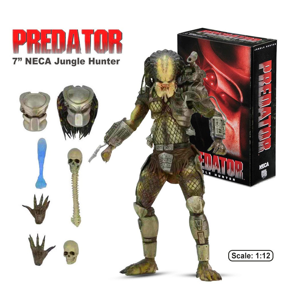 1:12 Jungle Hunter Predator Ultimate Deluxe Pack Statue Model Action Figures Toy Tv, Movie & Video Games