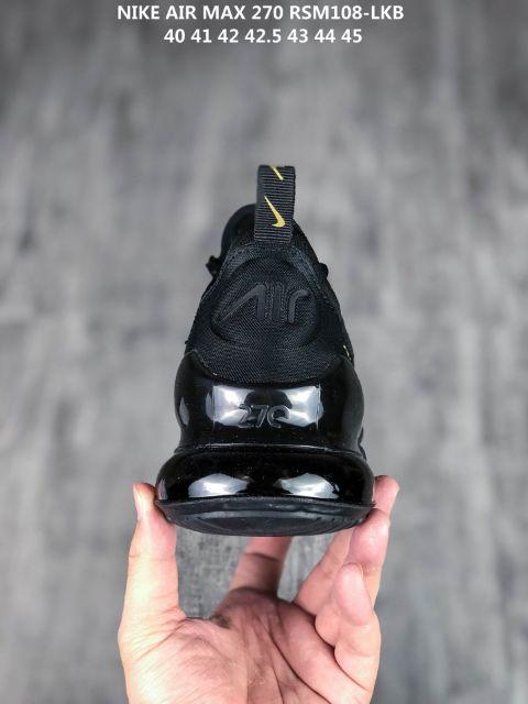 Nike Air Max 270 Flyknit Men Women Running Shoes Men (Black) Premium - 40-45 EURO