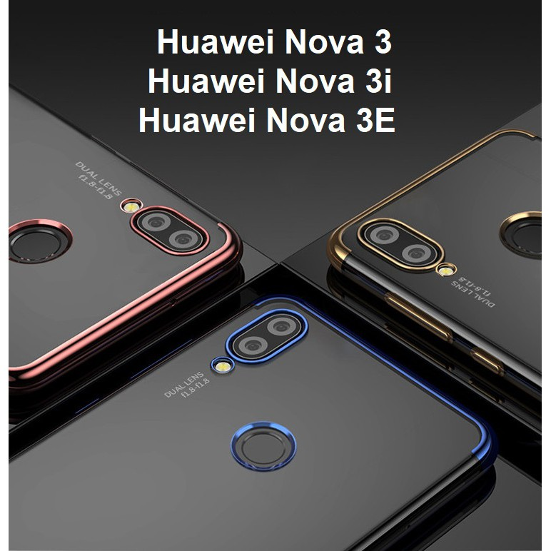 Huawei Nova 3 3i 3E Gold Plated Phone Case Casing Cover