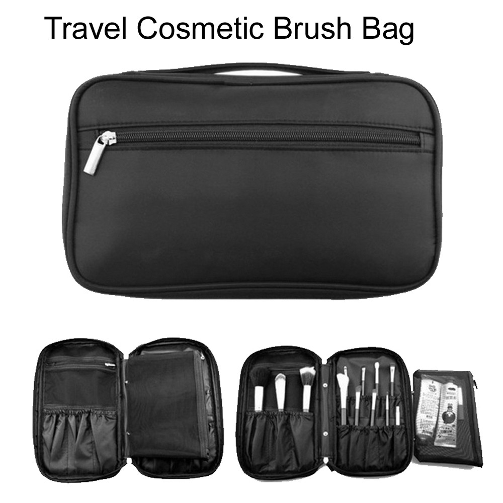 3a8fa25b9f87 Travel Makeup Brush Bag Multifunction Portable Cosmetic Makeup Brush Bag