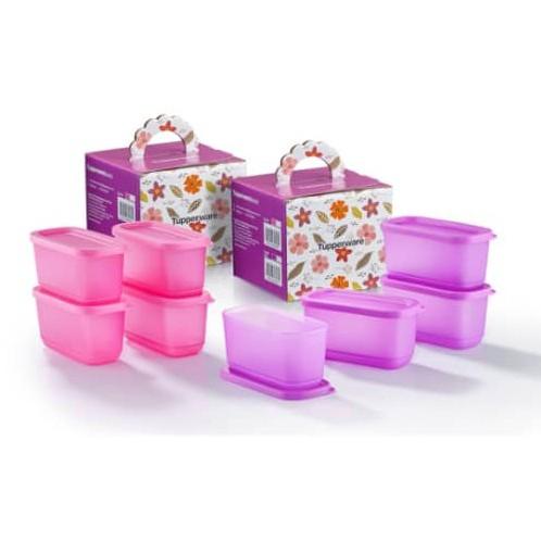Tupperware Cubix Mini Rectangular/ Precious Snowflakes Gift Set/ Sweet Trinkets Gift Set