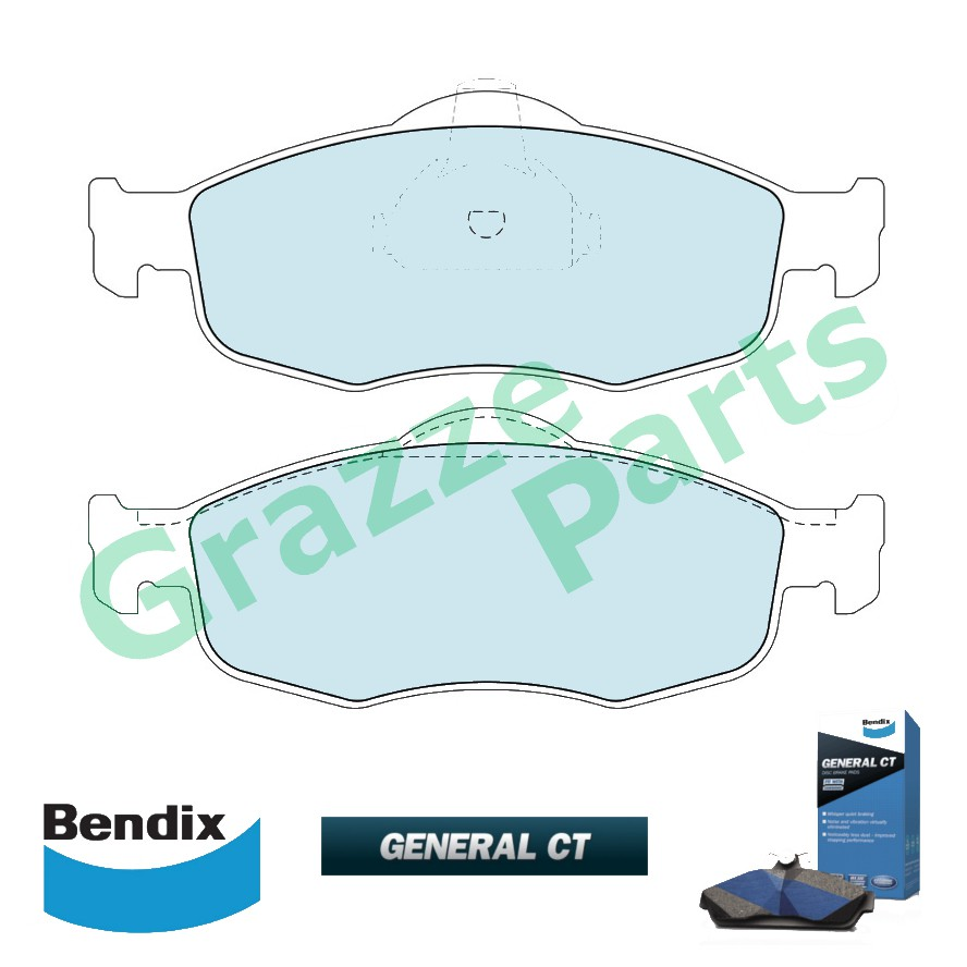 Bendix General CT Disc Brake Pad Front for DB1299 Ford Mondeo 2.0 1995