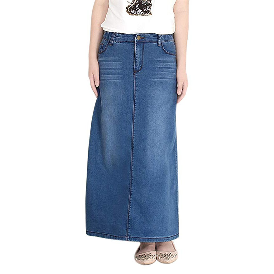 denim skirt - Prices and Promotions - Muslim Fashion Feb 2019 | Shopee Malaysia