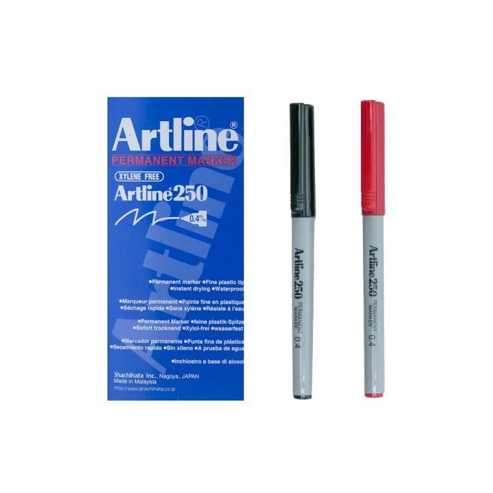 Artline 250 Fine Line Permanent Marker 0.4mm (12pcs/box)