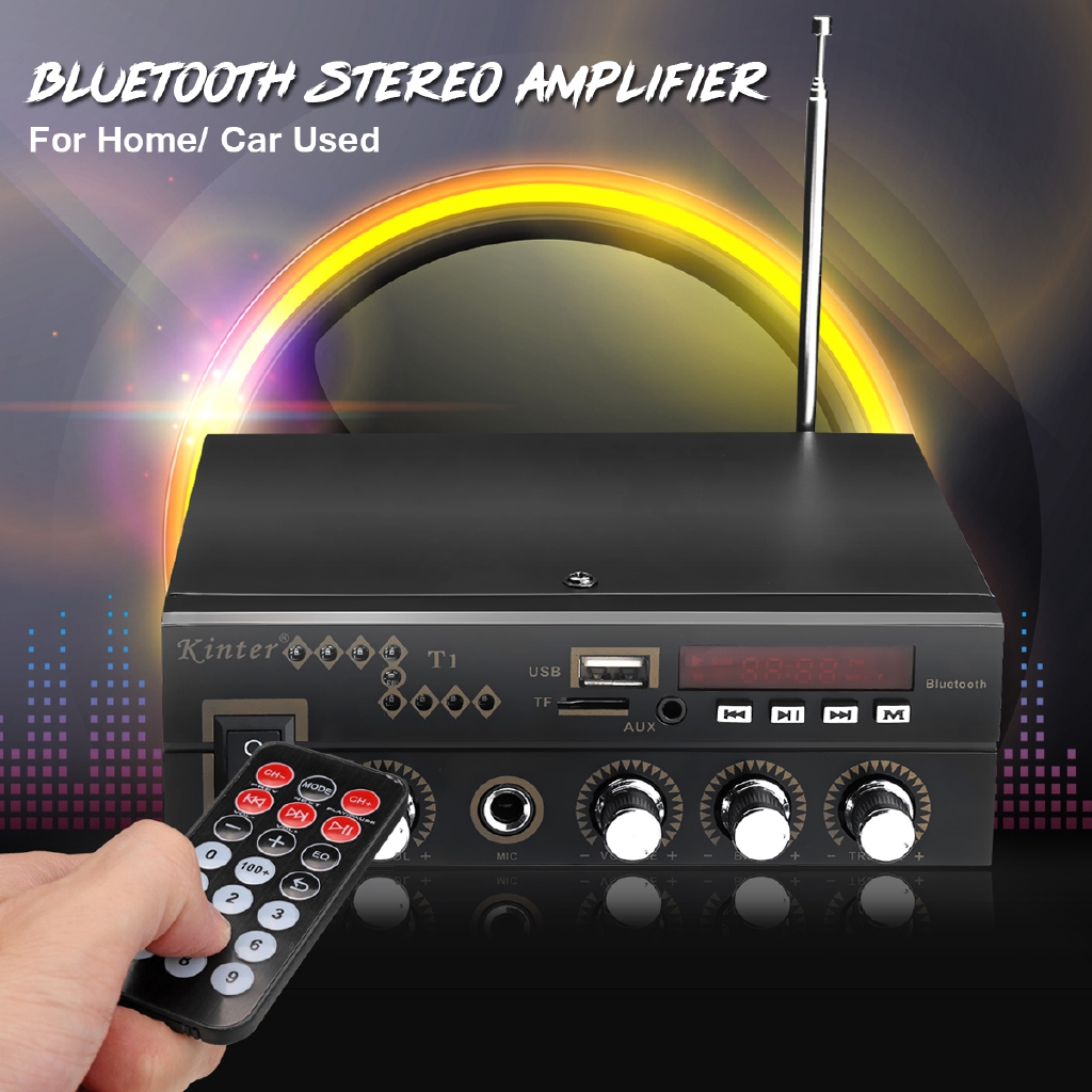 600W Bluetooth HiFi Power Amplifier Pro Stereo Surround Home Karaoke  220V/12V