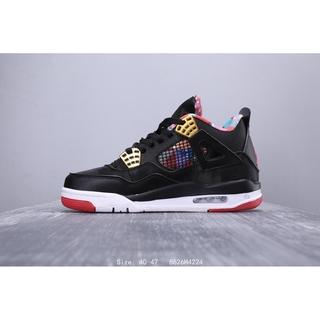 reputable site 60dec 00659 NIKE AIR JORDAN 4 RETRO AJ4 BLACK/RED Men Sports Shoes ...