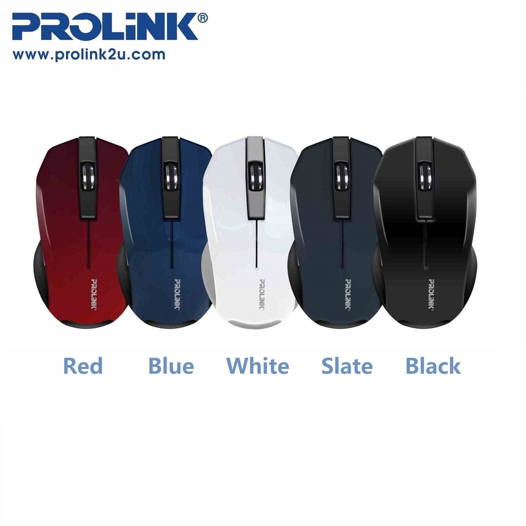 PROLiNK Wireless Optical Mouse 5-Buttons with On/Off Switch FREE AA Battery PMW6001