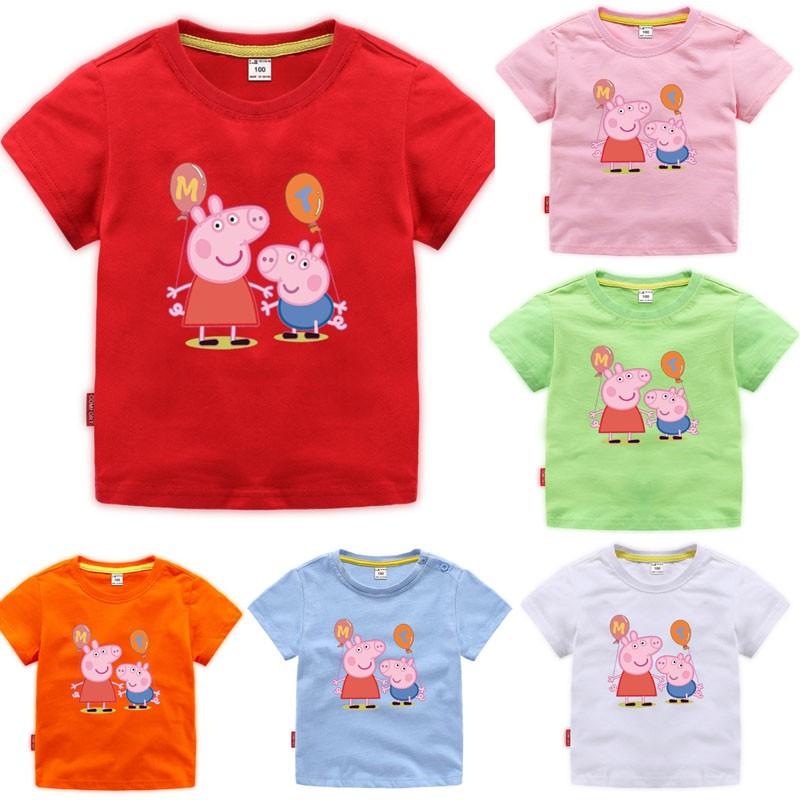 Baby Kids Girls Soft T-Shirt Blouse Tops Summer Short Sleeve Toddler Tops Cloth