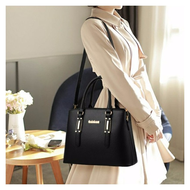 Sling Bag Tote Bag 2 In 1 Set Elegant & Pretty Women Combo Handbag #Beg Wanita