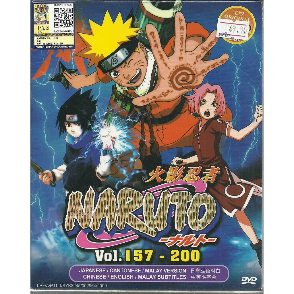 NARUTO (BOX 4) - COMPLETE ANIME TV SERIES DVD BOX SET (157-200 EPISODES)