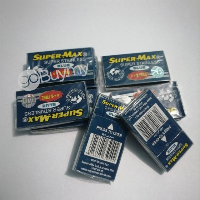 Super-Max Stainless Double Edged Razor Blades