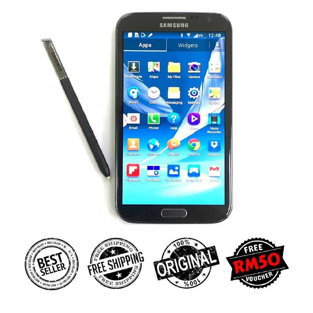 🇲🇾 Original Samsung Note 2 N7100 [16GB+2GB RAM] Amoled HD LCD FREE iRing Phone Holder [1 Month Warranty]
