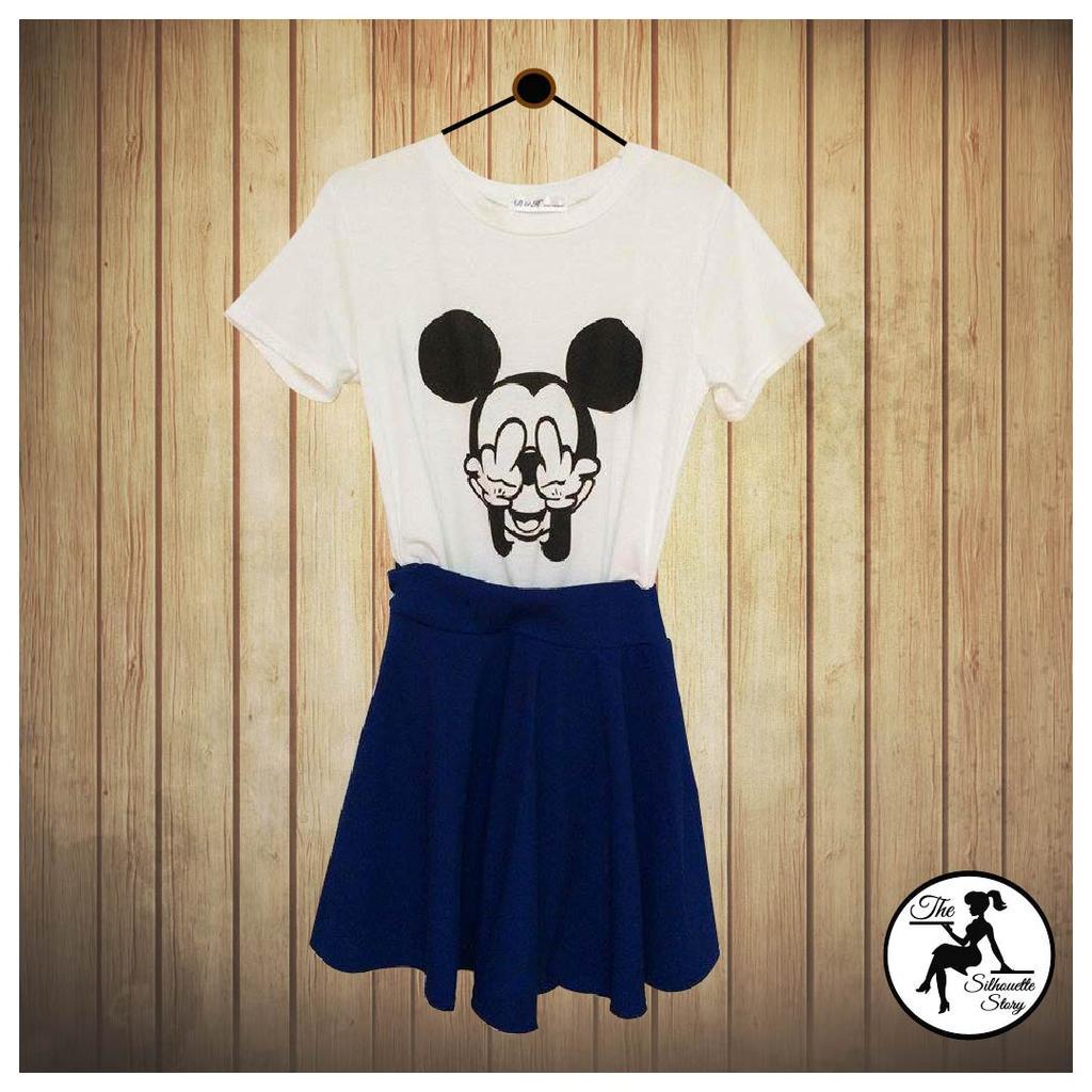(AW 015] Mickey Cotton White Shirt