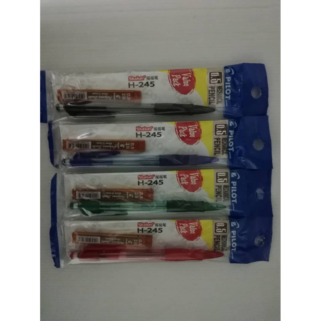 Pilot Shaker Mechanical Pencil H-245 0.5mm (Free Pencil Lead) 1pc