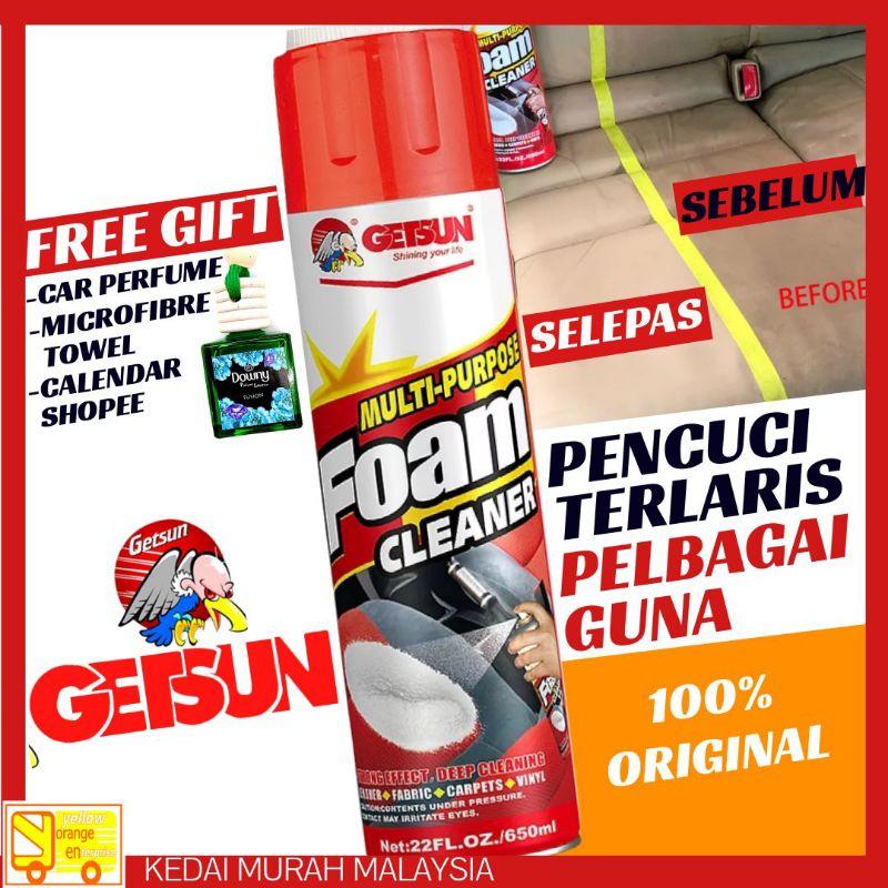 [ Promosi ] Original GETSUN Multipurpose Foam Cleaner 650ML ( Pencuci Pelbagai Guna )