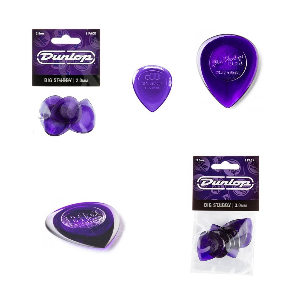 Dunlop Guitar Picks  6 Pack  Big Stubby  3.0MM  475P3