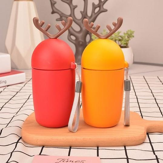Glass Bottle Antlers Deer Design 350ml  鹿角鹿玻璃瓶 S00117