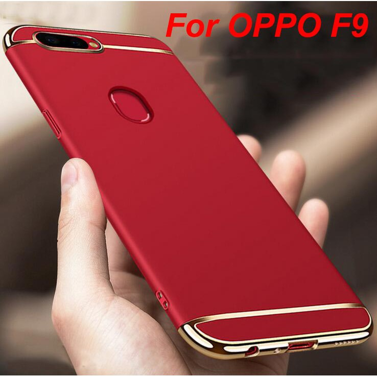For OPPO F9 Hard PC Hybrid Shockproof Slim Plating Case Cover Casing