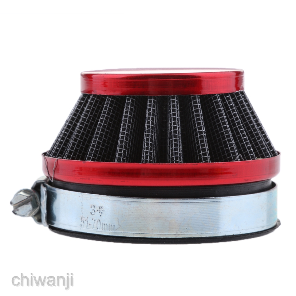 58mm Red Air Filter For Gas Motorized Bicycle Mini Moto ATV Dirt Pocket Bike