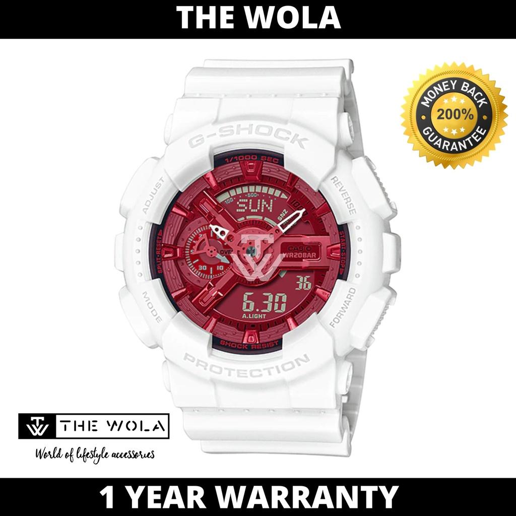 Casio G-Shock Men's Analog-Digital GA-110DBR-7A Far East Pop Series White Resin Sport Watch