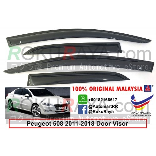 Peugeot 508 (1st Gen) 2011-2018 AG Door Visor (Medium 8cm Width)